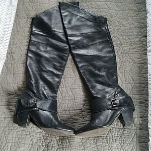 Aldo Thigh High Leather Boots